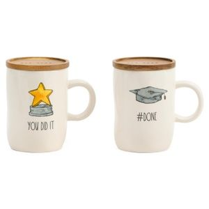 Rae Dunn 4 pc Graduation Mugs Set You Did It #Done